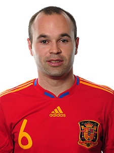 man of the match : andres iniesta : spain